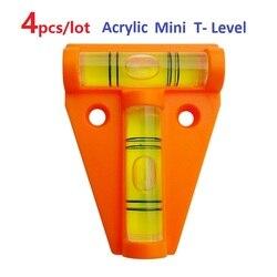 4 unids/lote herramienta de nivel en T de acrílico naranja RV Camper Tralier camión de motor consola de barcos Tabla de medición Mini burbuja de nivel