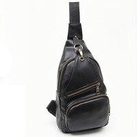 Business Men Leather Chest Bag Fashion Casual Models Tote Bag Travel Soild Shoulder Bag Mochila Hombro
