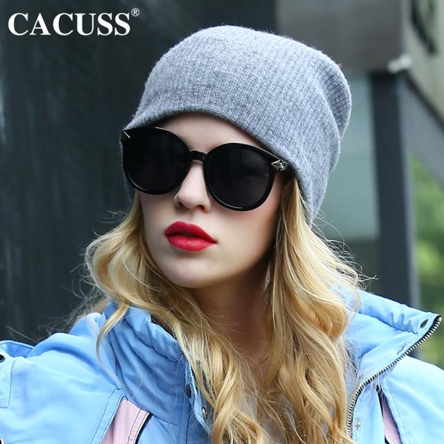 Cacuss marca knit cappelli donna cappelli di lana di inverno della ragazza  tenere in caldo molle df243e7c54e6