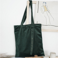 Popigist New Handmade Handbag Korea Japan Velour Totes Retro Top Handle Bags Girl Open Soft Cluth