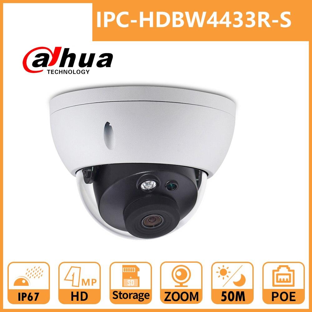 Dahua 4MP IP Camera ZOOM Security Dome Camera DH IPC-HDBW4433R-S CCTV Camera POE Network HD IR50M IP67 Waterproof Vandalproof