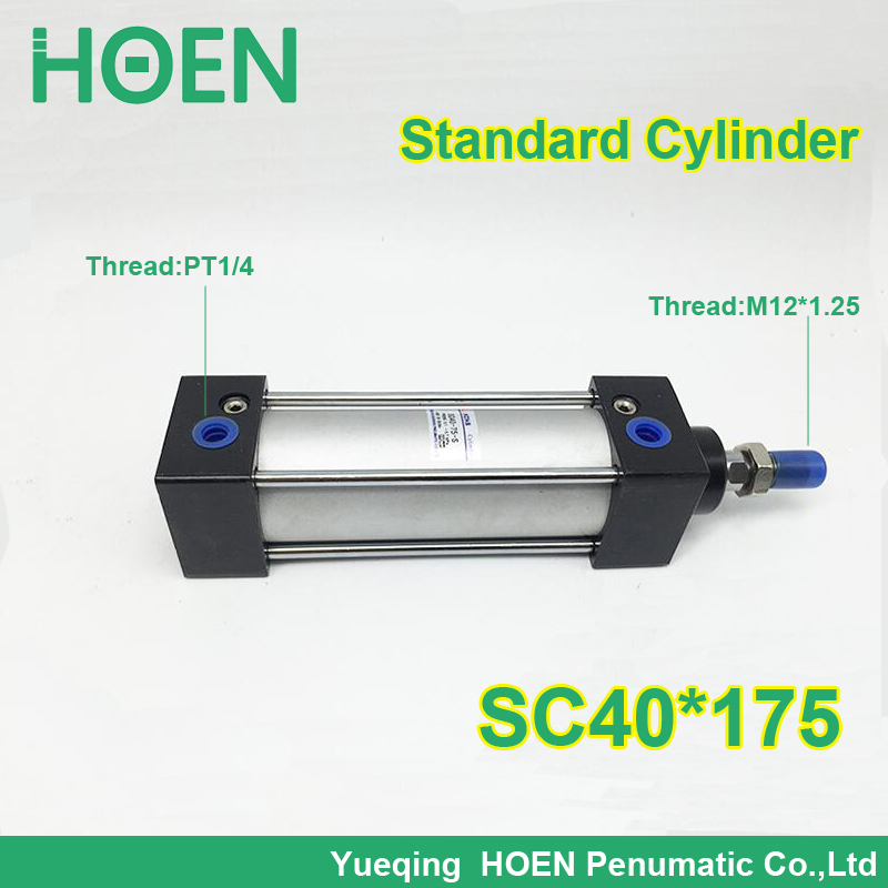 SC40*175 40mm Bore 175mm Stroke SC40X175 SC Series Single Rod Standard Pneumatic Air Cylinder SC40-175 sc250 175 s 250mm bore 175mm stroke sc250x175 s sc series single rod standard pneumatic air cylinder sc250 175 s