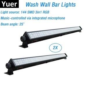 Image 1 - 144Pcs SMD LEDS RGB 3IN1 LED Bar Wall Wash Lights DMX512 Washer LED Indoor /Flood Light DJ /Party  /Stage Light Free Shipping
