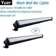 Barra de luces LED SMD RGB 3 en 1 para lavado de pared, DMX512, para interior, inundación, DJ, fiesta y escenario, 144 uds., envío gratis