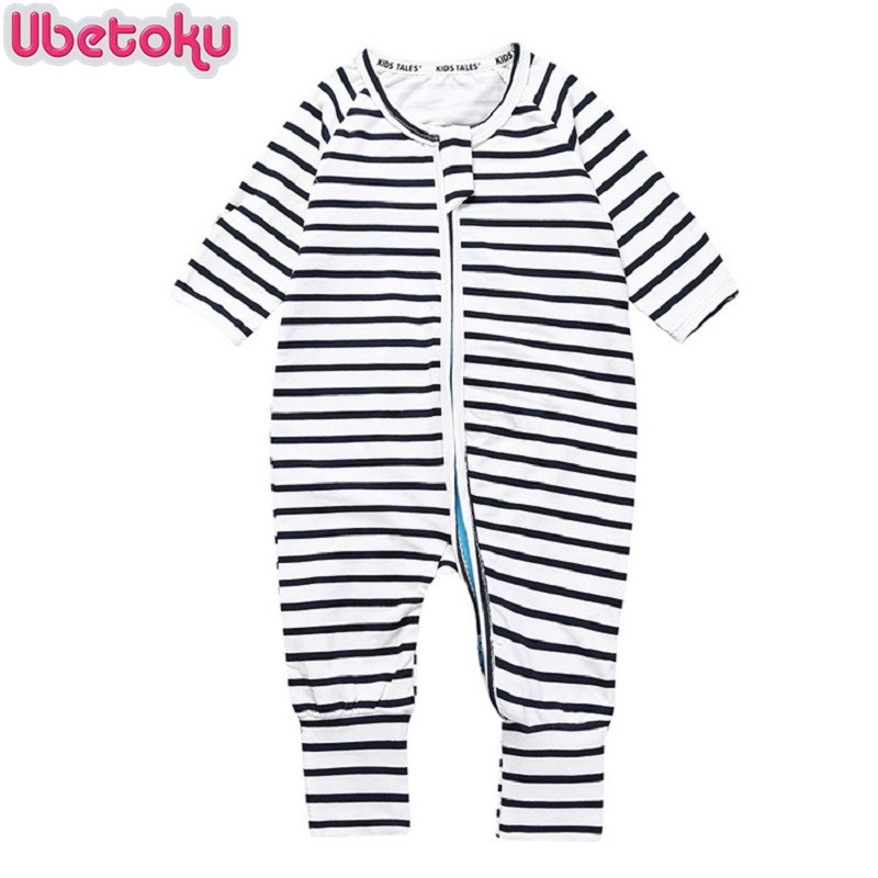 Ubetoku Baby Rompers Baby Girls boys One Pieces Romper baby jumpsuit newborn Striped rompers infantil kidswear