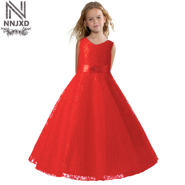 06f730523686 Summer Girl Party Dress 2018 New Designer Kids Children Prom Ceremony Gown  Princess Teenage Girl Red Evening Dress 6 12 14 Years