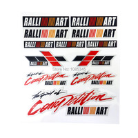 Automobiles Real Special Offer Limited Cartoon Car Styling Ralliart Sticker Decal For Mitsubishi Decoration The Whole