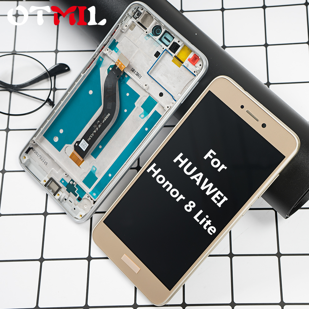 LCD For <font><b>Huawei</b></font> <font><b>Honor</b></font> <font><b>8</b></font> <font><b>Lite</b></font> <font><b>PRA</b></font>-AL00 <font><b>PRA</b></font>-AL00X <font><b>PRA</b></font>-<font><b>TL10</b></font> LCD <font><b>Display</b></font> Touch Screen Digitizer Assembly Frame For <font><b>Huawei</b></font> <font><b>Honor</b></font> 8lite image
