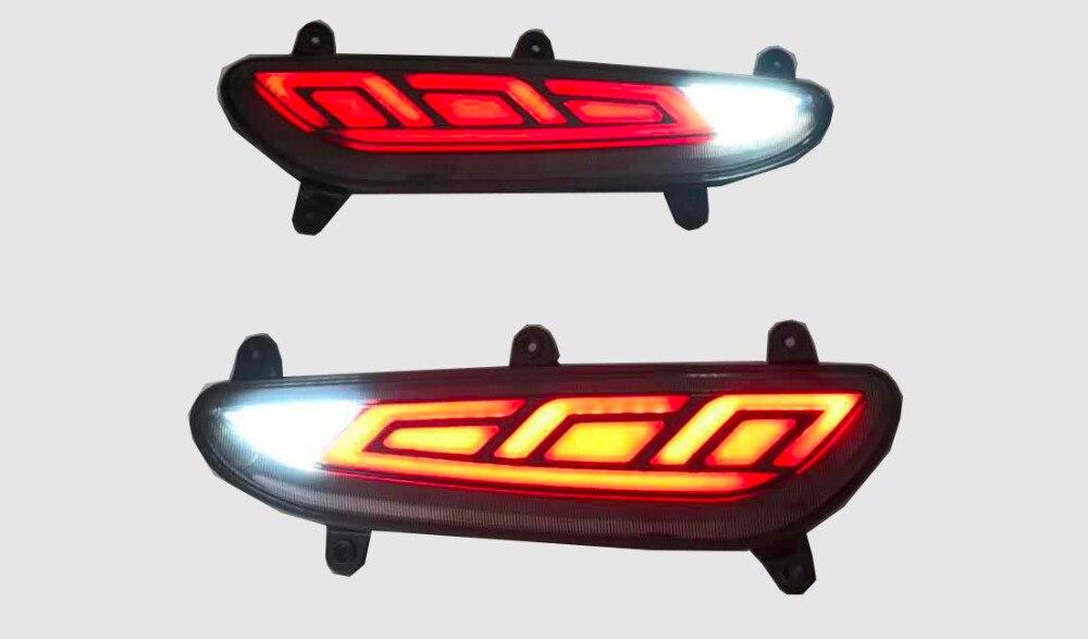 Qirun светодио дный светодиодный задний бампер свет поворотов Противотуманные фары тормоза дальнего света Обратный для hyundai i20