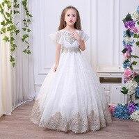 2018 new SPRING summer children clothing girls formal lace wedding dresses for girls dress vestidos priceness dresses