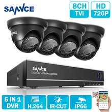 SANNCE 8CH 1080N TVI H.264+ 8CH  DVR 720P Outdoor Dome CCTV Video Home Security Camera System Surveillance Kits