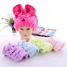 Bowknot Shower Cap Lantern Dry Hair Bath sauna Hat Bonnet Pr