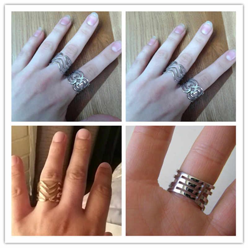 ใหม่ร้อนขายทองสี V ออกแบบแหวนกว้าง 17 มม. แฟชั่นเครื่องประดับสแตนเลสแหวนขายส่ง