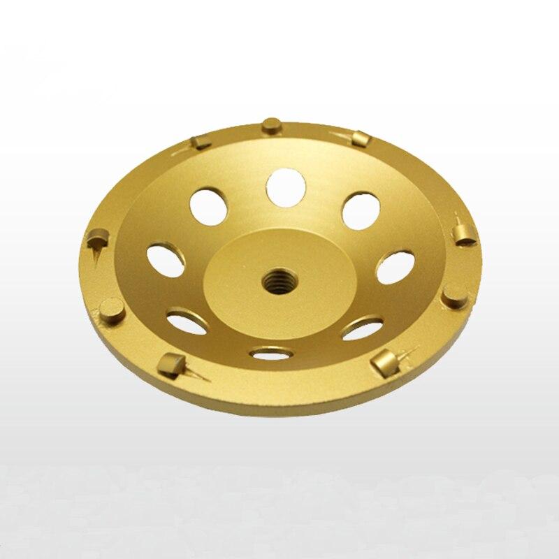 цена на 7 180mm 5/8-11 thread PCD Grinding Cup Wheel Epoxy Paint Glue Mastic Abrasive Residue Removal