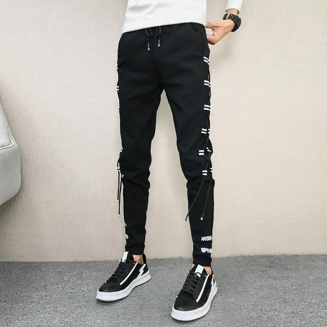 Pantalones coreanos de verano para hombre, ropa nueva de marca, pantalones bombachos, ajustados, Hip Hop, fáciles de combinar, informales, 2020, 33 28