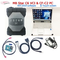 MB Star C6 Diagnosis VCI Multiplexer support CAN/DOIP protocol Software V03.2020 in CFC2 i5 touchbook Xentryy C6 for new cars