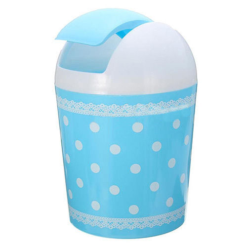 HOT GCZW-Plastic Mini Trash Basket Garbage Can Bin Desktop Wastebasket Workshop Exquisite