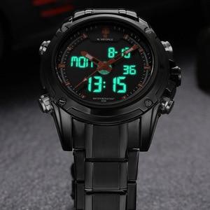 Image 5 - שעונים גברים NAVIFORCE מותג ספורט מלא פלדת קוורץ אנלוגי LED שעון Reloj Hombre צבא צבאי שעוני יד Relogio Masculino