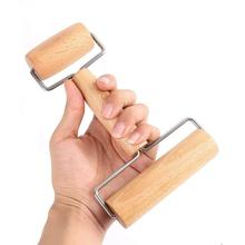 2 in 1 T-Shape Wooden Double-sided Rolling Pin Kitchen Pizza Baking Stick Roller New
