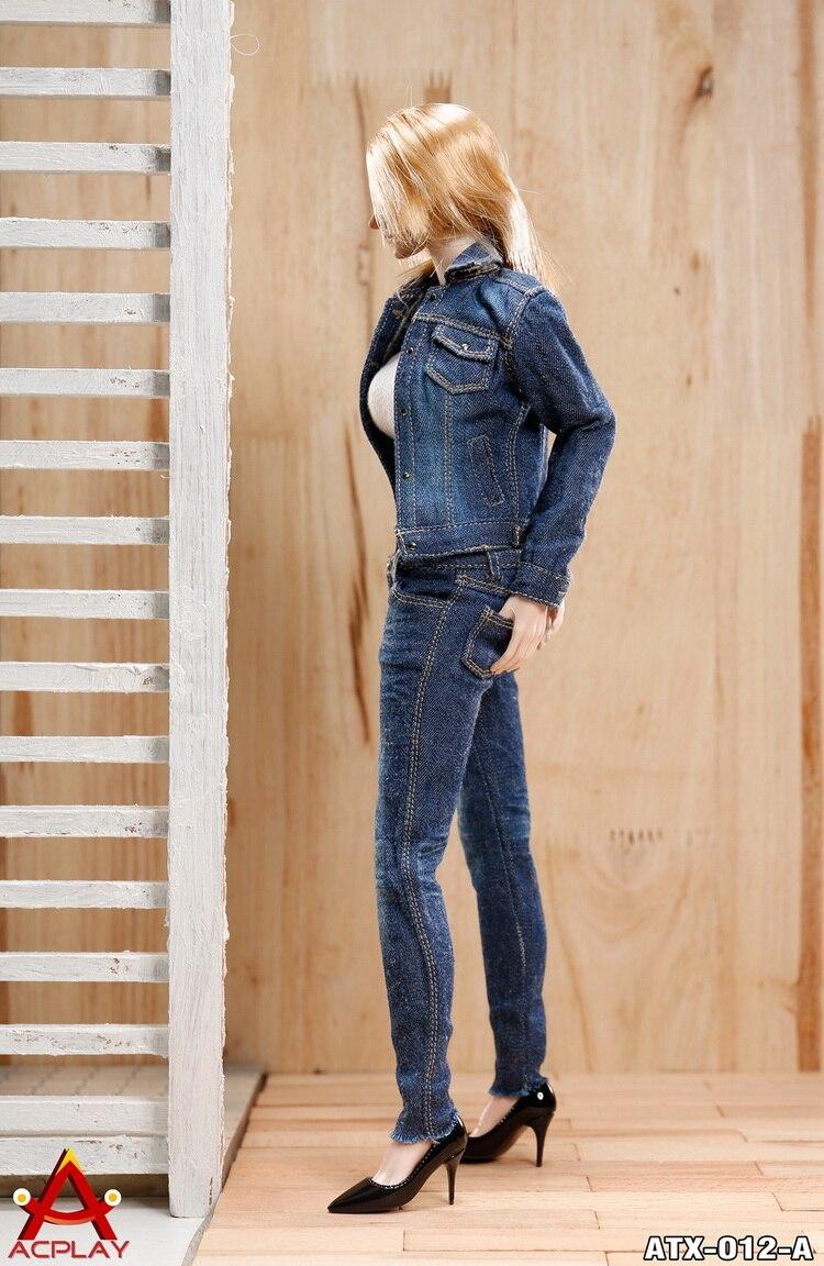 """ACPLAY 1//6 Women Jacket underwear Jeans Set ATX012 A F 12/"""" Phicen Female Figure"""