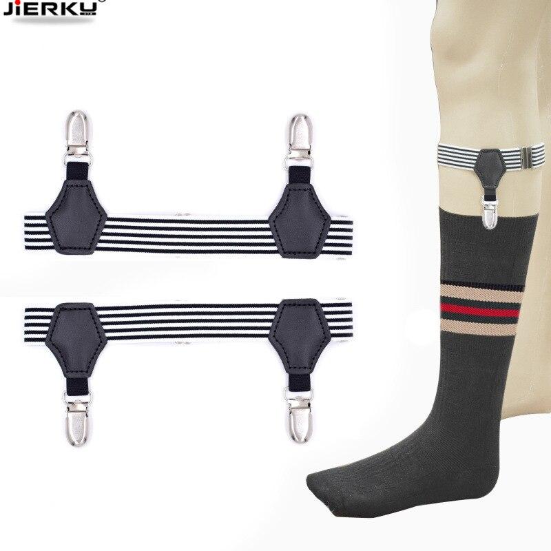 New Sock Stays Stocking Holder Gentleman Lose Suspenders Braces Elastic Uniform Business Leg Strap  Socking Garters 1pair
