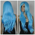 Wholesale DM32076 >New Wig Sky Blue Hair Girl's Wig Wig Foreign Trade Cosplay Wigs