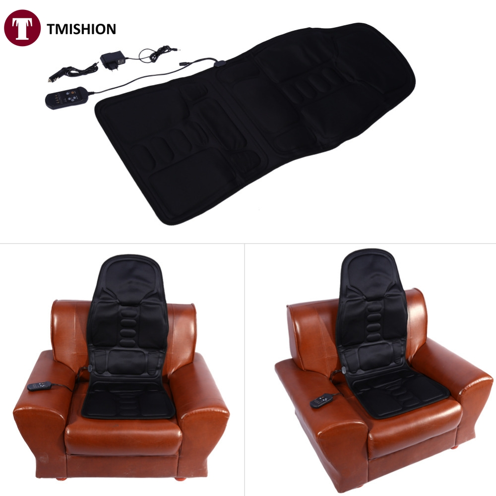 Auto Car Home fice Full Body Back Neck Lumbar Massage Chair Relaxation Pad Seat Heat Hot Sales