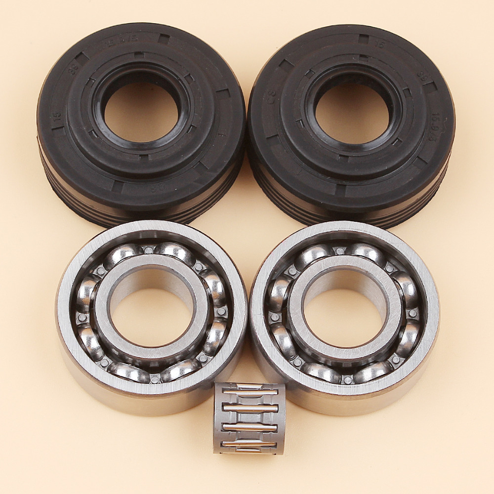 Crankshaft Crank Bearing Oil Seal Kit For HUSQVARNA 340 340E 345 345E 350 EPA Chainsaw Parts 503932301 503932302 чехол запорожец дичь beige green iphone 6