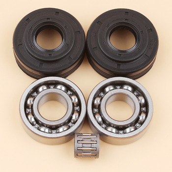 Crankshaft Crank Bearing Oil Seal Kit For HUSQVARNA 340 340E 345 345E 350 EPA Chainsaw Parts 503932301 503932302 alloy chainsaw crankshaft bearing oil replacement gasoline chainsaw spares parts for outdoor power equipment