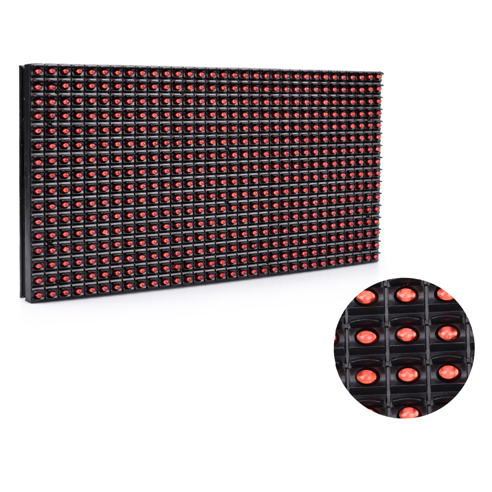 320*160mm 32*16pixels P10 Outdoor Waterproof Red Led Module For Single Red Color P10 Led Message Display Module