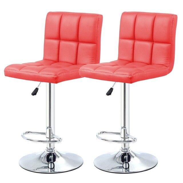 2 ШТ. Высокое качество Поворотный Офисная Мебель Компьютерный Стол Офисный Стул в ПУ Кожаный Стул барный стул Новый HW50129-2RE