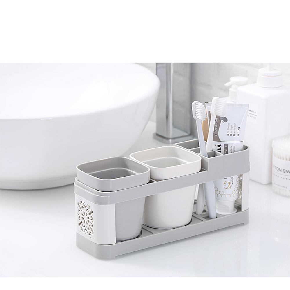 Portable Flower Carved Toothbrush Holder Toothbrush Cap Case Wash Gargle Bathroom Set Home Toothpaste Storage Box Wash Cup image