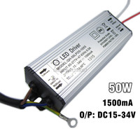 5pcs Lot 1500mA 50W LED Driver DC15 34v Power Supply IP67 Waterproof Constant Current Driver For