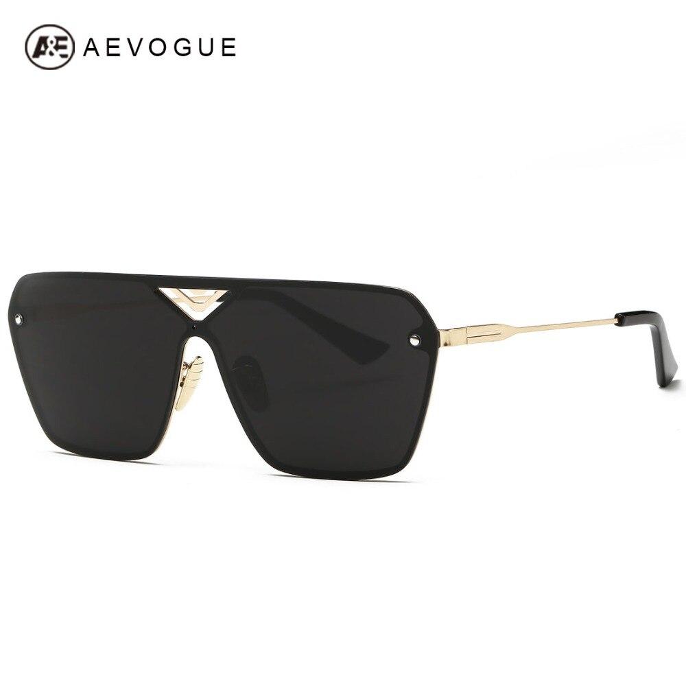5eee0773d5f48 AEVOGUE óculos de Sol dos homens Siameses Lente de Óculos Sem Aro Frame Da  Liga Estilo Verão Óculos de Sol Oculos de sol UV400 AE0324