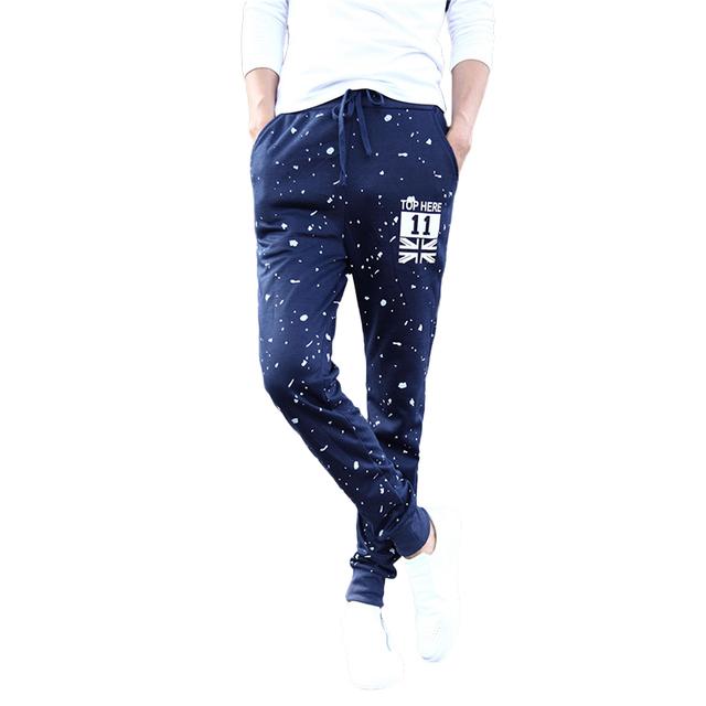 Nueva Moda de Primavera y Otoño de Marca Para Hombre Pantalones de Chándal de Los Hombres de Impresión Pantalones Casual hombres Joggers Pantalones Pantalones de las Medias de Los Hombres