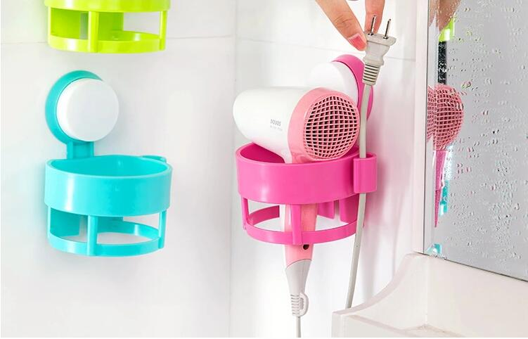 Bathroom strong sucking disc hair dryer Storage box organizer hanger basket rack wall hanging wall shelf bathroom accessories