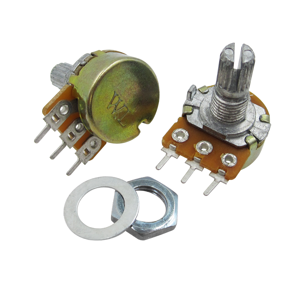 HAILANGNIAO DOIT WL Brand 10K Ohms WH148 B10K Linear Potentiometer 15mm Shaft Pot With Nuts And Washers Pots