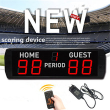 Tablero de puntuación Digital LED electrónica, Juego de 4 pulgadas, baloncesto, bádminton, ping pong, tenis de mesa, mando a distancia inalámbrico