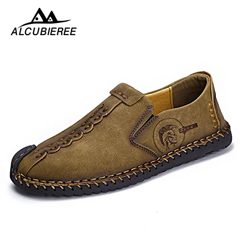 Atmungsaktive Sommer Schuhe Manner Casual Turnschuhe Leder Loafers