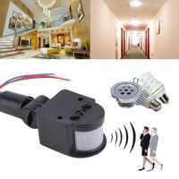 Universal Professionelle Motion Sensor Licht Schalter Outdoor AC 220V Automatische Infrarot PIR Motion Sensor Schalter Mit LED Licht