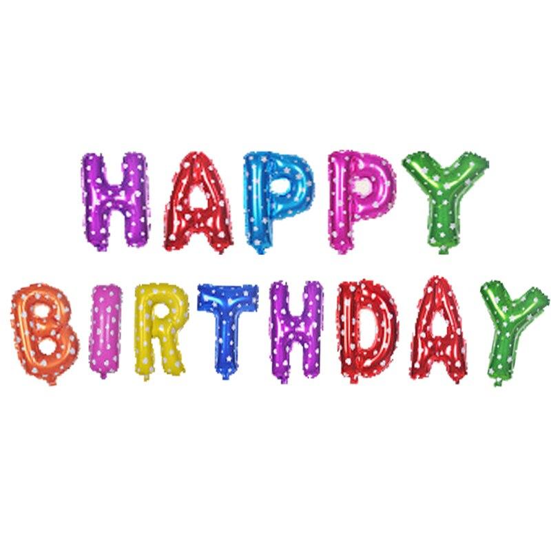 1 Satz 16 Inch Happy Birthday Balloons Buchstaben Alphabet Air Folienballon Party Ballons Startseite Geburtstag Hochzeit Dekorationen In