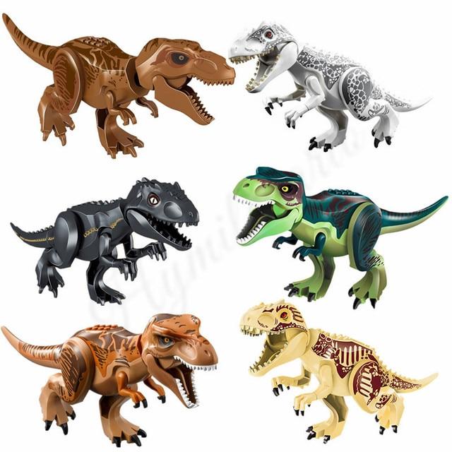2Pcs Jurassic World Tyrannosaurus Indominus Rex I Rex T