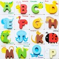 1 Pcs Letters Digital Puzzle Learning Wood Toy Baby Child Kid Early Educational Wooden Symbol Alphabet Card Jigsaw Matching Game