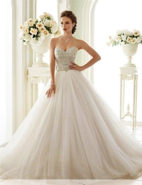 Vestidos De Novia Bling Bridal Gowns Tulle Luxury Vintage Princess ...