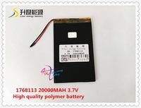 3 7V 20000mAH SD 1768113 Polymer Lithium Ion Li Ion Battery For Power Bank Pos GPS