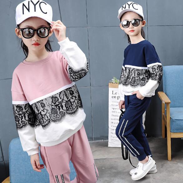 d798c7610380 Children Clothing Set Kids Tracksuit Sports Suit Girls Fashion Long ...