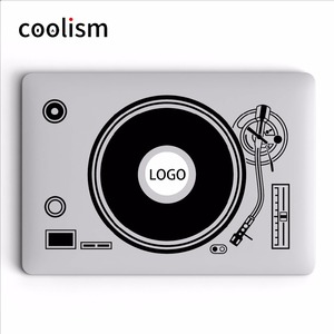 DJ Turntable Disk Record Player Vinyle Laptop Decal Sticker for Apple MacBook Sticker 11 12 13 15 inch Mac Mi Surface Book Skin