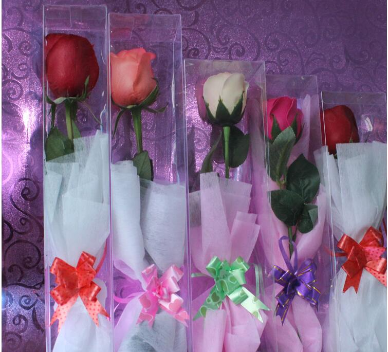 Transparent Packaging PVC Box Special Packing for Roses Toy Display Box Wedding Party Flowers Package Gift Box 3