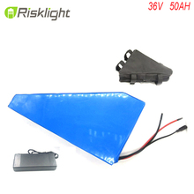 36V 50Ah triangle E bike battery 36 Volts Lithium ion battery batteria bici vae velo electrique
