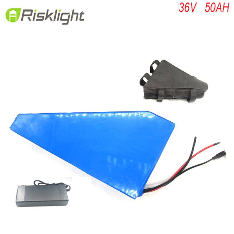 Frame type 36V 50Ah triangle E-bike battery 36 Volts Lithium ion battery for 1000W Electric Bicycle For Sanyo cell